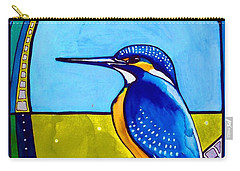 Kingfisher Carry-all Pouch by Dora Hathazi Mendes