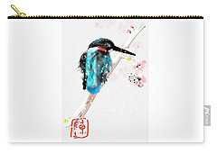 Kingfisher In Late Spring Snow Carry-all Pouch