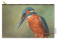 Kingfisher Perched Carry-all Pouch