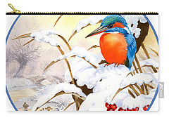 Kingfisher Plate Carry-all Pouch by John Francis