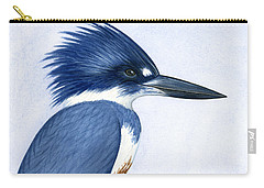 Kingfisher Portrait Carry-all Pouch by Charles Harden