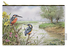Kingfishers On The Riverbank Carry-all Pouch