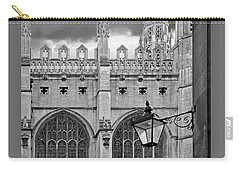 Carry-all Pouch featuring the photograph Kings College Chapel Cambridge Exterior Detail by Gill Billington