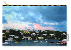 King's Wharf Bermuda Harbor Sunrise Carry-all Pouch by Susan Savad