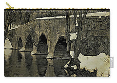 Kingston Bridge Woodprint Carry-all Pouch