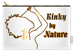 Carry-all Pouch featuring the digital art Kinky By Nature by Rachel Natalie Rawlins
