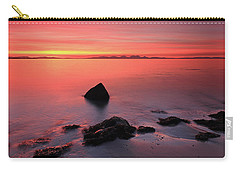 Carry-all Pouch featuring the photograph Kintyre Rocky Sunset 2 by Grant Glendinning