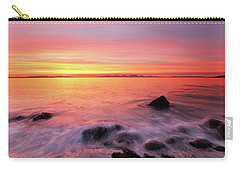 Kintyre Rocky Sunset 3 Carry-all Pouch by Grant Glendinning