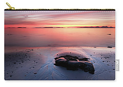 Carry-all Pouch featuring the photograph Kintyre Rocky Sunset 5 by Grant Glendinning