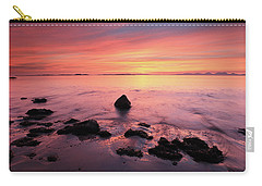Carry-all Pouch featuring the photograph Kintyre Rocky Sunset by Grant Glendinning