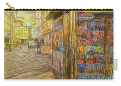 Kiosk - Prague Street Scene Carry-all Pouch