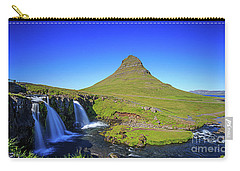 Carry-all Pouch featuring the photograph Kirkjufell Iceland by Edward Fielding