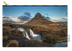 Kirkjufellsfoss Waterfall And Kirkjufell Mountain, Iceland Carry-all Pouch