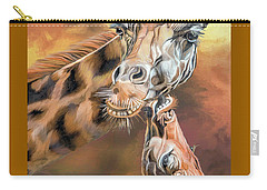Carry-all Pouch featuring the mixed media Kiss For Mama by Carol Cavalaris