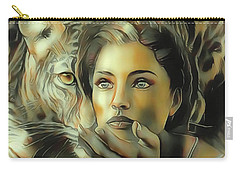 Kiss Of The Leopard Woman Carry-all Pouch