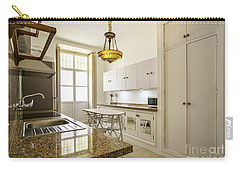 Carry-all Pouch featuring the photograph Kitchen Apartment In The Heart Of Cadiz by Pablo Avanzini
