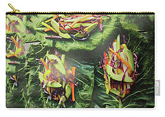 Carry-all Pouch featuring the painting Kitchen Art Chopped Veggie Salad Chef Cuisine Christmas Holidays Birthday Mom Dad Fastfood Food by Navin Joshi