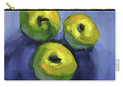 Carry-all Pouch featuring the painting Kitchen Pears Still Life by Nancy Merkle