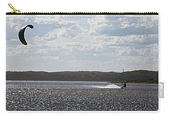 Carry-all Pouch featuring the photograph Kiteboarding by Miroslava Jurcik