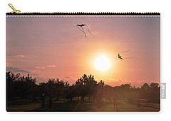Kites Flying In Park Carry-all Pouch by Matt Harang