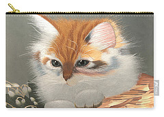 Kitten In A Basket Carry-all Pouch