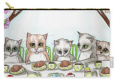 Kitten Tea Party Carry-all Pouch