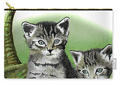 Carry-all Pouch featuring the painting Kitty Caddy by Ferrel Cordle
