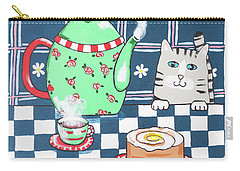 Kitty Cat Tea Time Carry-all Pouch