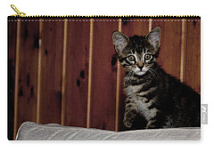Carry-all Pouch featuring the photograph Kitty by Laura Melis