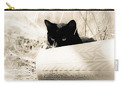 Kitty Stalks In Sepia Carry-all Pouch