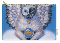 Kitty Yin Yang- Cat Angel Carry-all Pouch