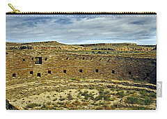 Carry-all Pouch featuring the photograph Kiva View Chaco Canyon by Kurt Van Wagner
