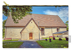 Carry-all Pouch featuring the photograph Kjaerrbo Church South.  by Leif Sohlman