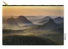 Kleiner Winterberg Silhouettes, Saxon Switzerland, Germany Carry-all Pouch