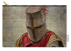 Carry-all Pouch featuring the photograph Knight In Armor by Mary Hone