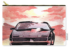 Carry-all Pouch featuring the digital art Knight Rider by Gina Dsgn