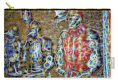 Carry-all Pouch featuring the photograph Knights In Shining Armor by Dave Luebbert