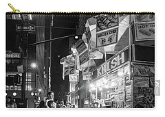 Carry-all Pouch featuring the photograph Knish, New York City  -17831-17832-bw by John Bald