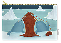 Knitting Narwhals Carry-all Pouch