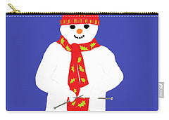 Knitting Snowman Carry-all Pouch by Barbara Moignard