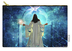 Carry-all Pouch featuring the digital art Knocking On Heavens Door by Dolores Develde