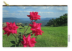 Carry-all Pouch featuring the photograph Knockout Rose 2 by Aaron Martens