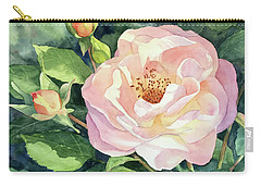 Knockout Rose And Buds Carry-all Pouch by Vikki Bouffard