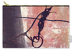 Carry-all Pouch featuring the photograph Knotted Wire by Anna Louise