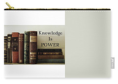 Knowledge Is Power Carry-all Pouch by Patricia E Sundik