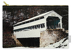 Knox Covered Bridge Historical Place Carry-all Pouch by Sally Weigand