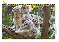Koala Joey On Mom Carry-all Pouch by Jamie Pham