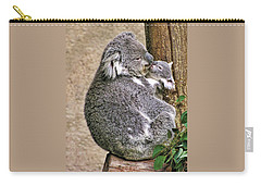 Koala Mom And Child Carry-all Pouch