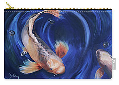 Carry-all Pouch featuring the painting Koi by Donna Tuten