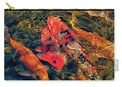 Koi Fish Fresco One Carry-all Pouch by Tony Grider